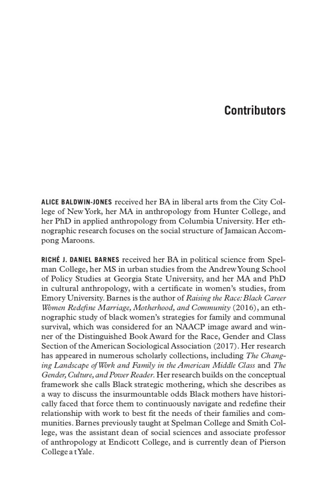 This image shows the first page of the list of contributors from the volume