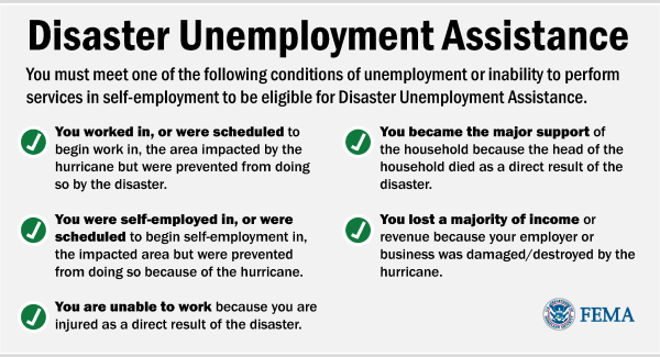 FEMA Unemployment Assistance Graphic