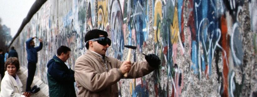 photo du mur de Berlin en 1989