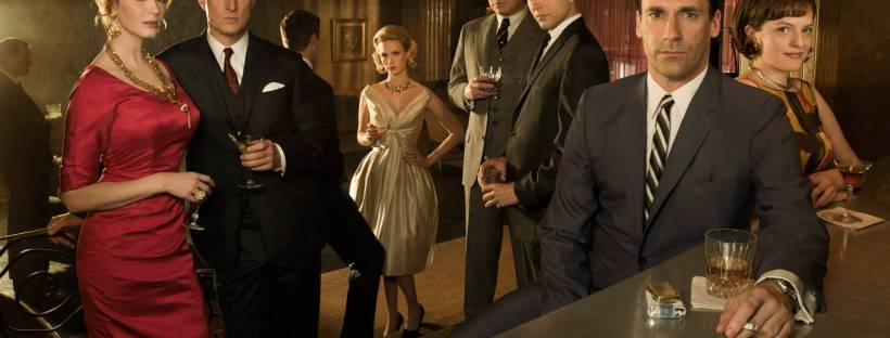 Photo officielle de la série télévisée Mad Men montrant les personnages principaux