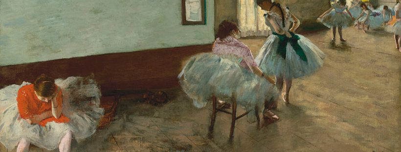 reproduction d'une partie du fameux tableau de Degas représentant des danseuses étoiles dans les vestiaires de l'Opéra