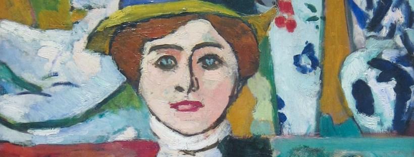gros plan sur portrait d'Henri Matisse représentant une femme aux yeux verts