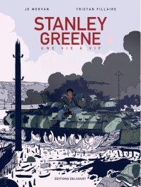 Couverture de la BD « Stanley Greene : Une vie à vif » (Delcourt, 2020)