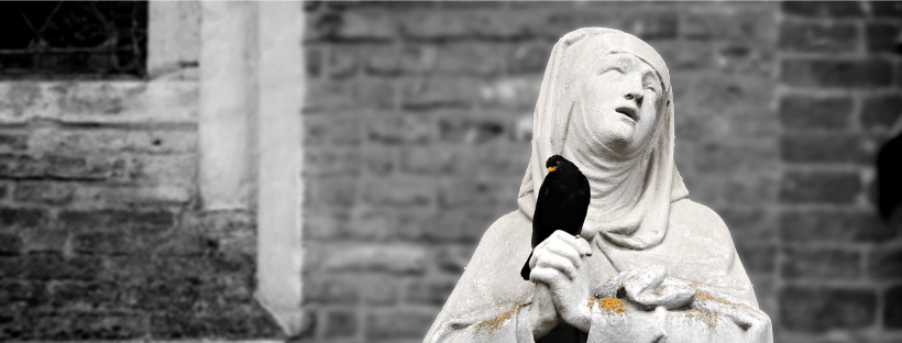 Statue d'une nonne catholique