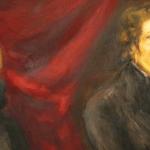 George Sand et Frédéric Chopin. Double portrait peint par Eugène Delacroix vers 1837 (détail).