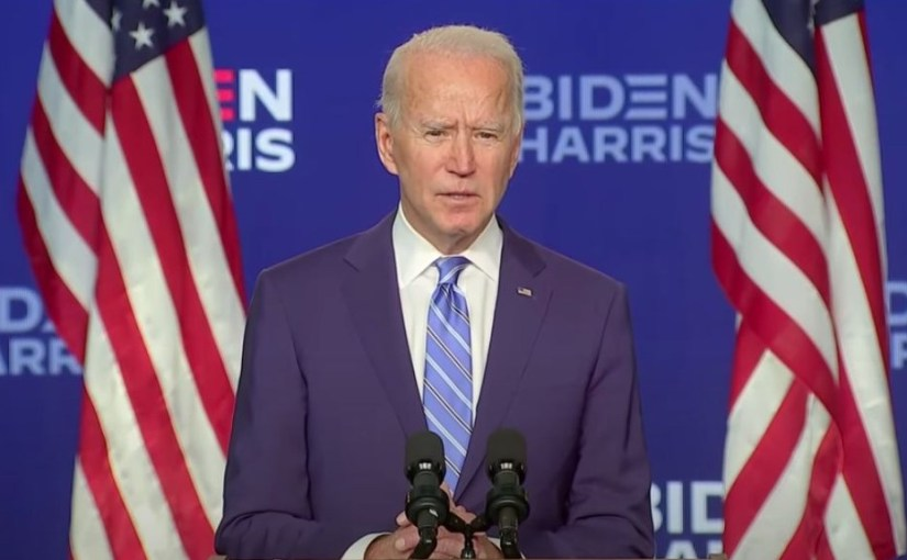 Speech Joe Biden over uitslag presidentsverkiezingen 2020