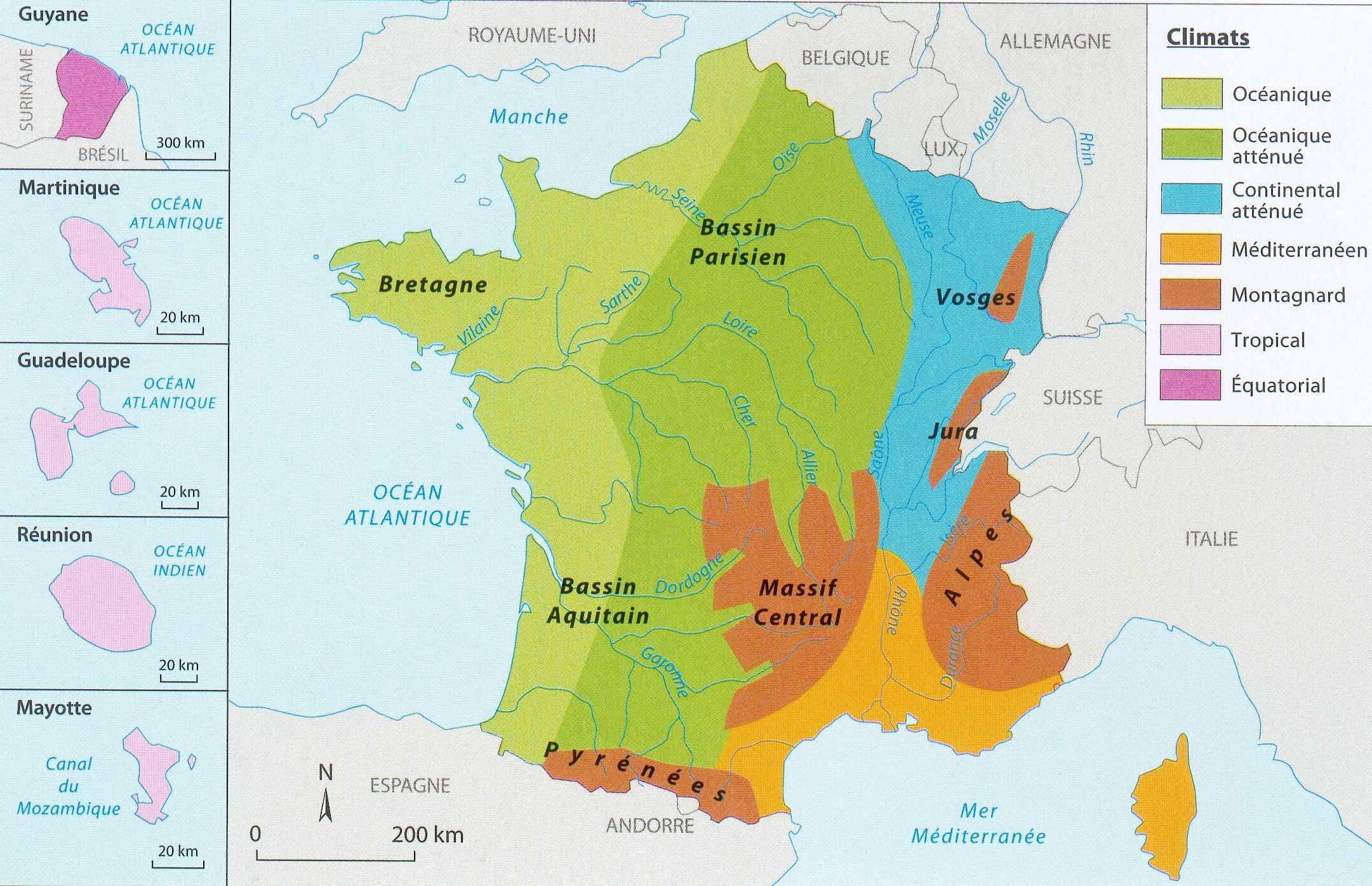 CARTE les climats en France1