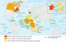 CARTE les principaux espaces de la francophonie1