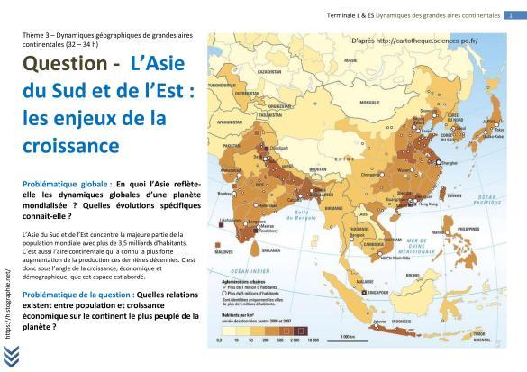 L'Asie du Sud et de l'Est les enjeux de la croissance (1)