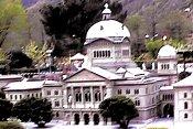 Berne, Suisse: Palais federal (siège du gouvernement suisse) Foto: modèle au parc swissminiatur, Melide