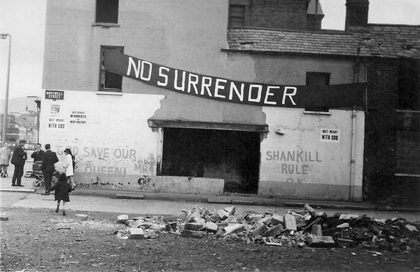 Photographie prise dans Derry après le bloody sunday