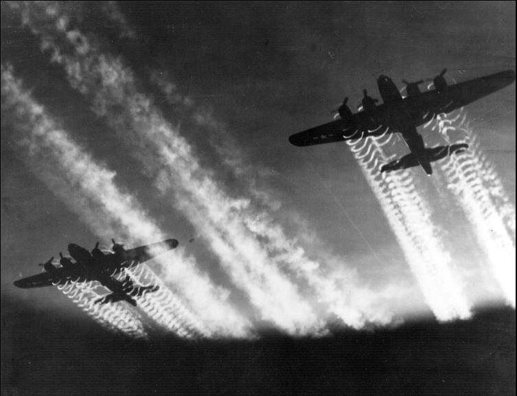 Bombardement aerien - 6 juin 1944