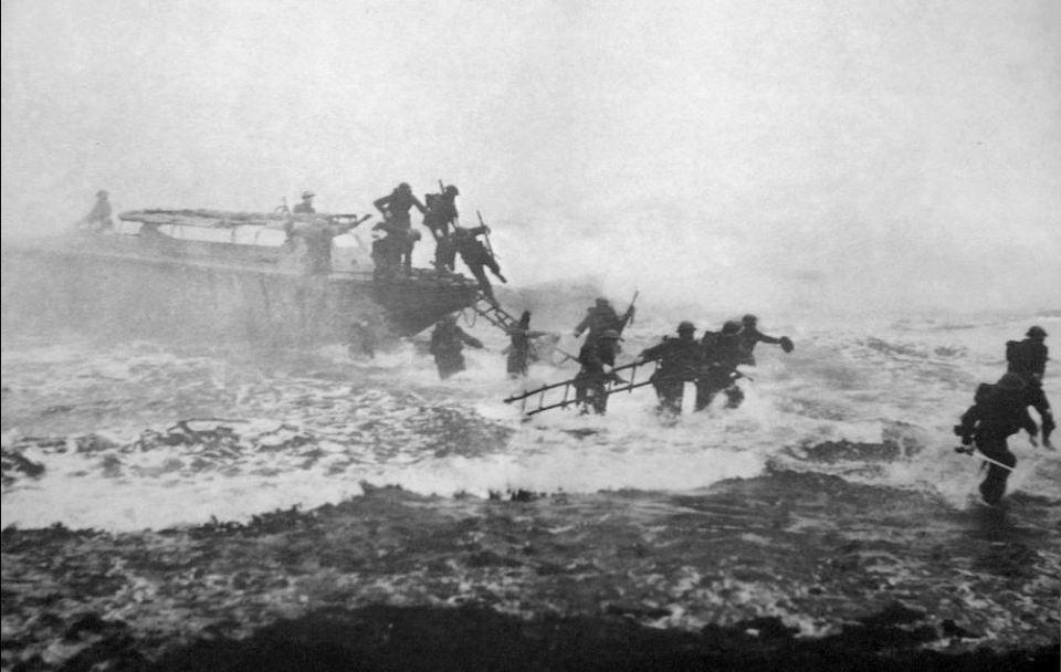 Landing craft eureka-troupes britaniques-Sword-beach