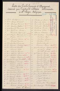 Civils d'Apremont évacués à St Léger Belgique - CICR liste civ 1026