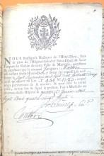 Autorisation de mariage d'un enfant de l'Hôtel-Dieu de Marseille