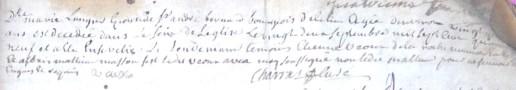 Décès de Dlle Marie Laugier, épouse de Sr André Bernard