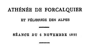 Association Athénée de Forcalquier et Félibrige des Alpes
