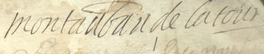 Signature de René-Antoine sur un acte de baptême de mai 1705