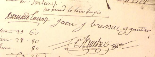 Signature d'Armand La Tour du Pin au bas d'un acte du 12 fructidor an 9 (30/8/1801)