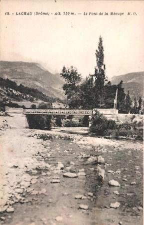 Le pont de fer, construit en 1912