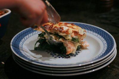 lasagne au poivre et au poisson