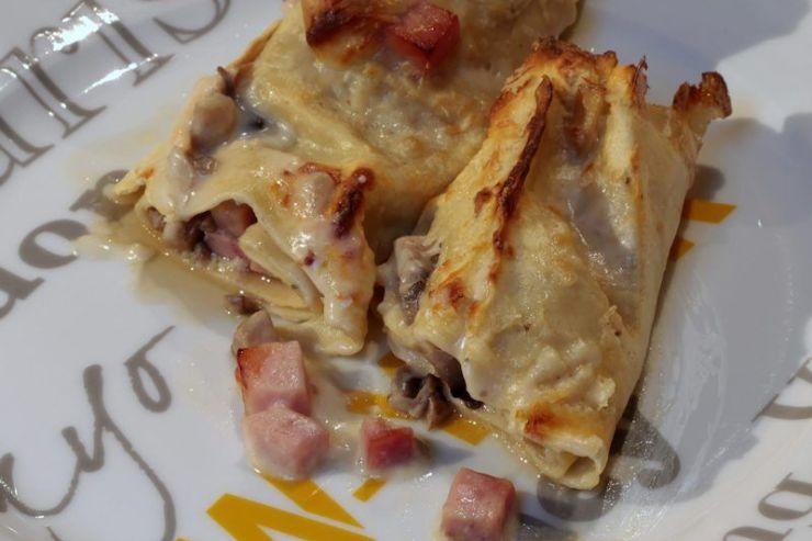 cannellonis aux champignons et jambon