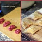fabrication d'agnolotti