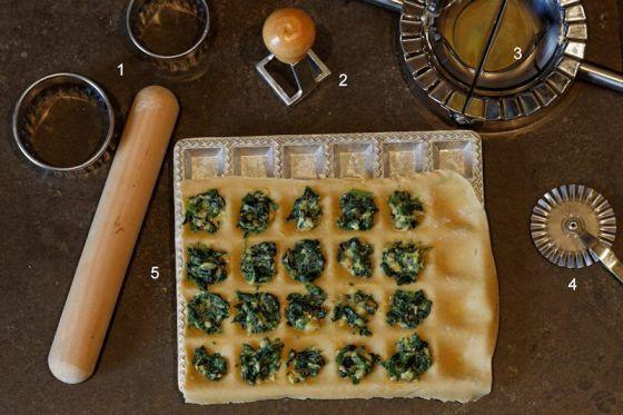 matériel pour fabriquer des raviolis