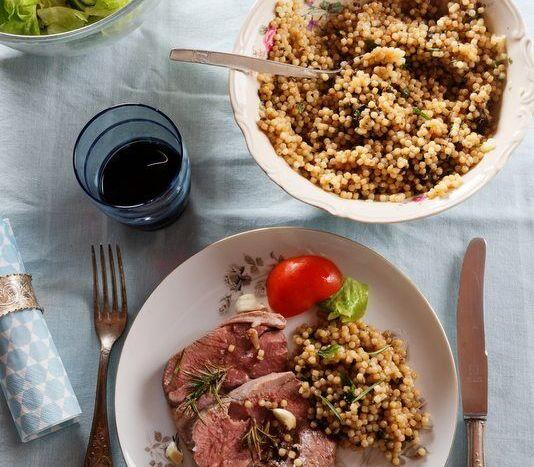 salade de fregola et agneau