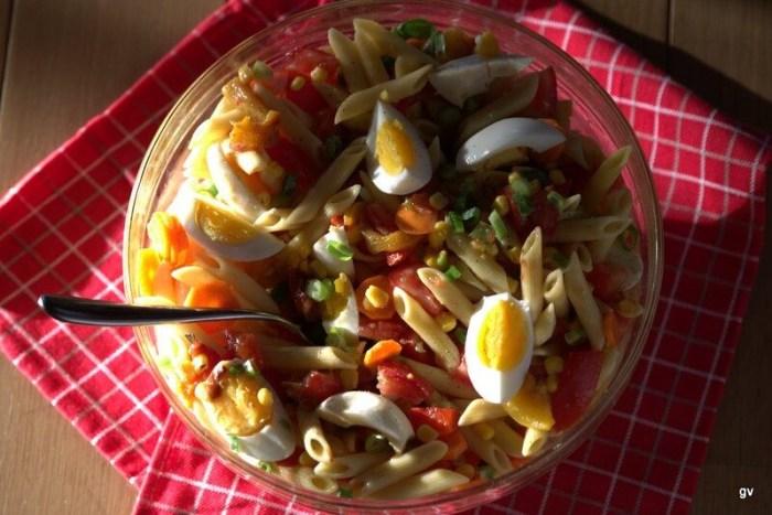 salade de penne aux légumes