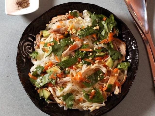 salade de vermicelles au poulet
