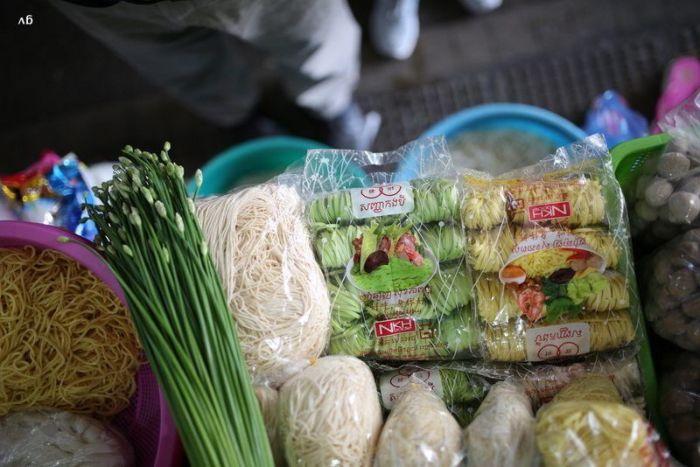 pates vertes au Cambodge