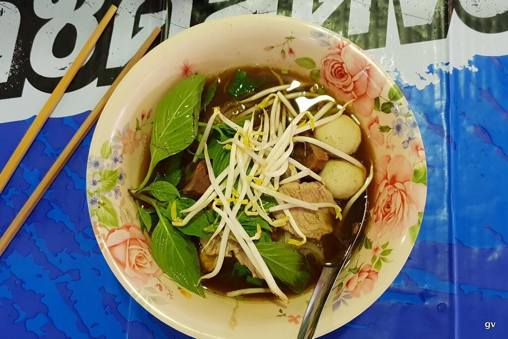 boat noodles à Bangkok
