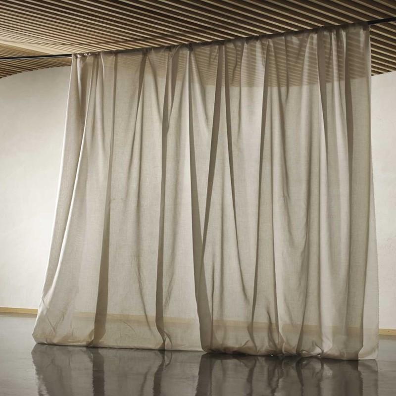 tissu rideaux voilage grande largeur non feu trevira cs eternel de casal