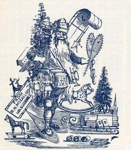 Représentation de Santa Claus parue dans le Montreal Illustrated en 1894. (Les collections de BAnQ)