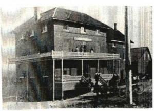 Le Queen's Hotel se dressait autrefois sur les terrains de l'actuel Musée Beaulne, à Coaticook. Photo tirée du site de la Société d'histoire de Coaticook.