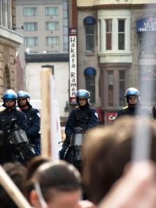 Manifestation étudiante du 22 mars 2012. Crédits : Pascal Scallon-Chouinard