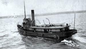 Le bateau pilote Eurêka en 1909. Source : Site historique maritime Pointe-au-Père.