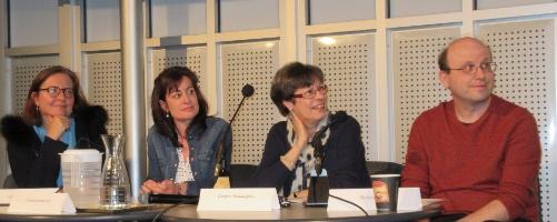 La table ronde, composée de gauche à droite par Florence Descamps, Louise Bienvenue, Denyse Baillargeon et Steven High. Crédit : CFQLMC - Gilles Durand.