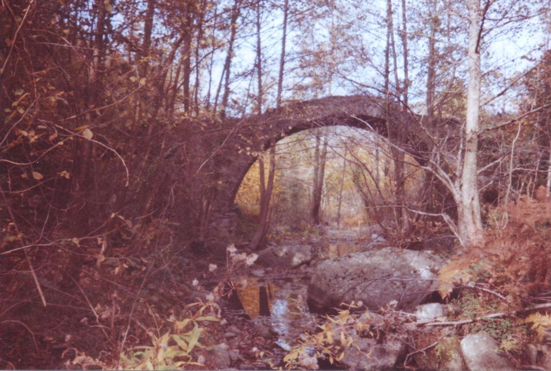 Pont romain sur la Ferrère, dit pont des mandres = Pont des renardes.