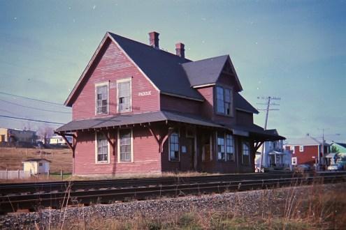 La gare quelques semaines avant sa disparition.