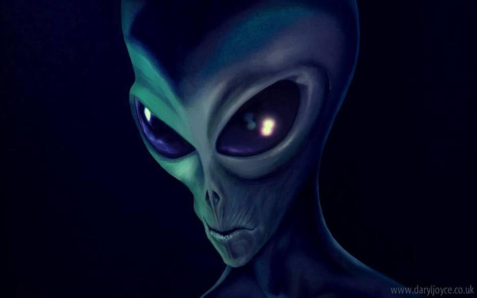 La planète Mars, l'ancienne Terre - ...maigres avec de longs membres et possédaient ces grands yeux au noir infiniment profond...