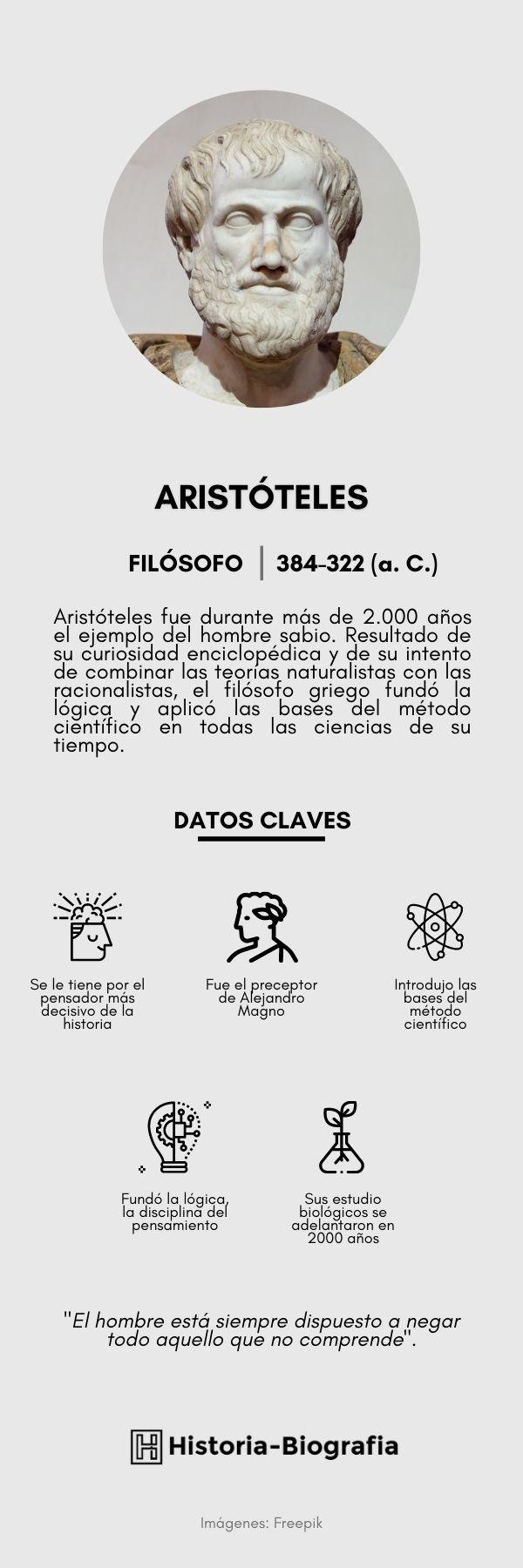 Infografía de Aristóteles