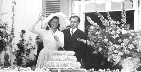 Rita Hayworth en su boda con Ali Khan