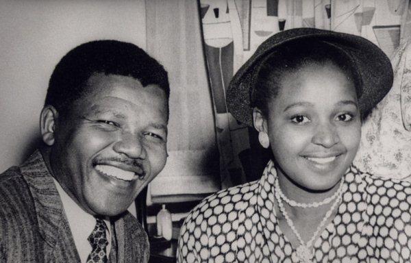 Nelson y Winnie Mandela