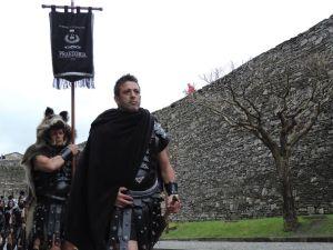 A garda pretoriana de Lugo desfila polas rúas da cidade / concellodelugo.gal