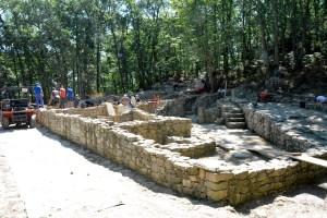 Unha das domus atopadas nas escavacións do castro romano de Armeá / Duvi