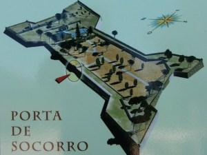Plano do Castelo de Santa Cruz, na Guarda / 1000-lugares-en-galicia.blogspot.com