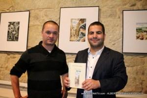 Julio Villarino na presentación dun libro / baionatv.webs.com