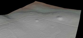 Situación da Mota Grande en imaxe do LIDAR / Elixio Vieites